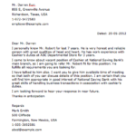 Sample Cashier Letter