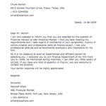 Sample Financial Letter