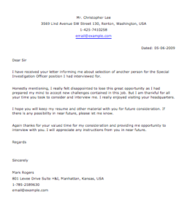 Follow Up Letter for Police Jobs