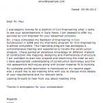 Sample Civil Construction Letter
