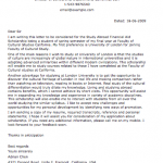 Sample Application Letter