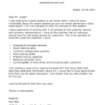 Sample Call Center Letter