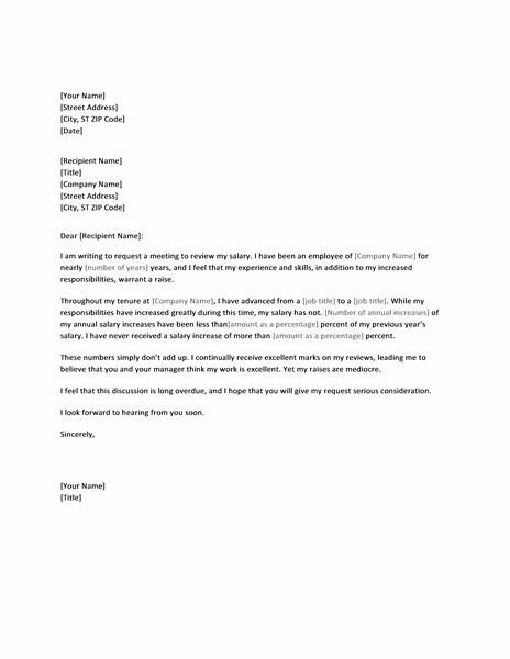 salary request letter smart letters