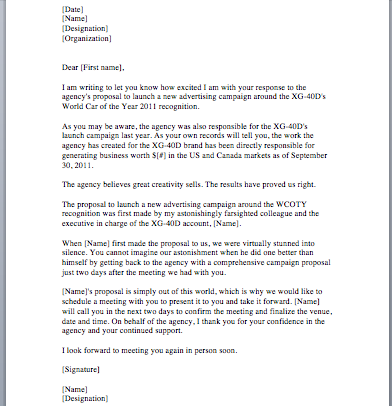 Sample Proposal Letter - Smart Letters