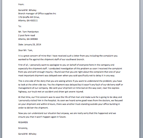 Sample Apology Letter Smart Letters