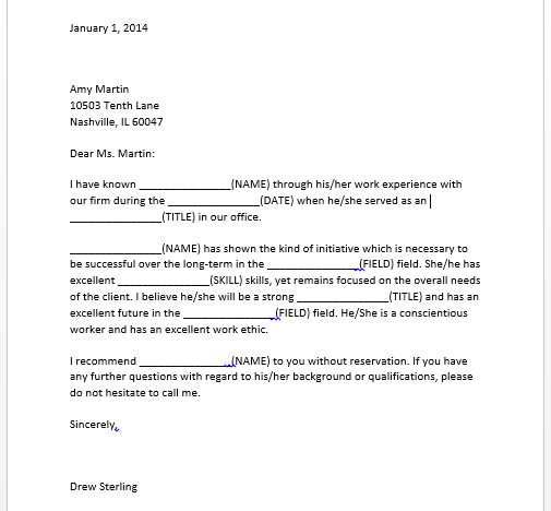 appointment letter for job format