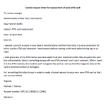 Bank ATM Card Replacement Request Letter