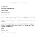 Bank Loan Information Request Letter