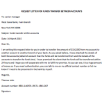 Request Letter for Funds Transfer Between Accounts