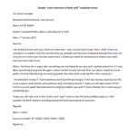 """Rude Treatment of Bank Staff"" Complaint Letter"