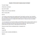 Request Letter to Open a New Account