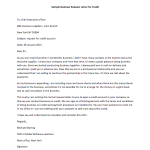 Business Request Letter for Credit