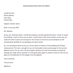 Sample Letter to Landlord with Notice to Vacate