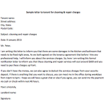 Sample Letter to Tenant for Cleaning & Repair Charges