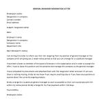 General Manager Resignation Letter Sample