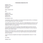 IT Professional Resignation Letter
