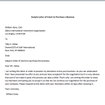 Application Letter To Purchase Goods  Letter Of Intent To Purchase Goods