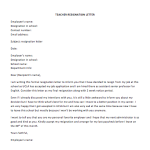 Senior Manager Resignation Letter