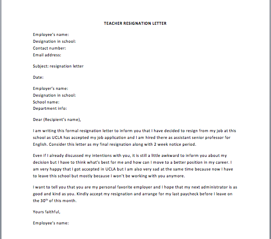 sample retirement resignation letter. Resume Example. Resume CV Cover Letter