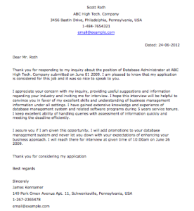 Post Interview Followup Letter from www.smartletters.org