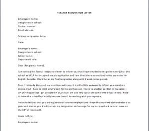 Letter Of Resignation For Teacher from www.smartletters.org